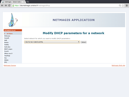Network selection for DHCP range modification